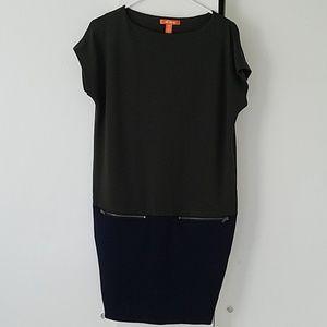Joe Fresh Color Block Ponte Knit Shift Dress